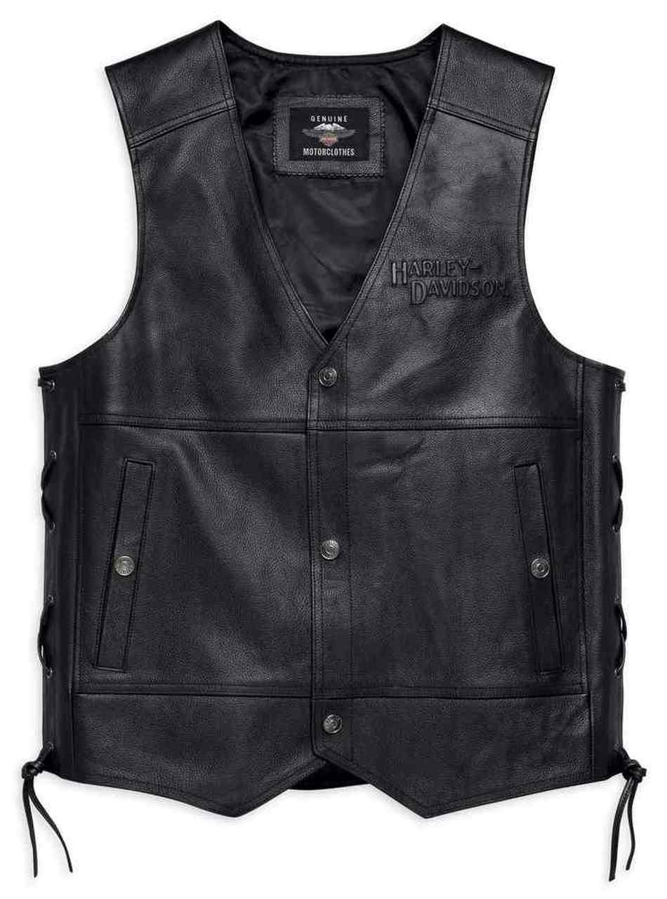 98024-18vm Chaleco de cuero Harley-Davidson® Men´s Tradition II Leather Vest