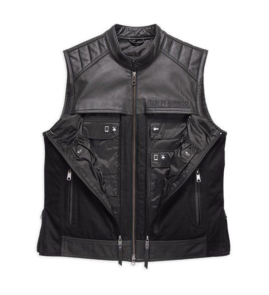 H98120-17VM Men's Synthesis Pocket System LeatherTextile Vest