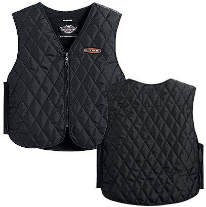 H98201-13VM Harley-Davidson® Mens Hydration Zipper Front Black Vest