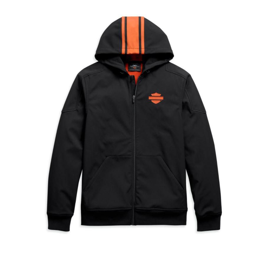 H98408-20VM Chaqueta elástica con capucha y rayas verticales hombre Harley-Davidson® Men Vertical Stripe Hooded Stretch Jacket