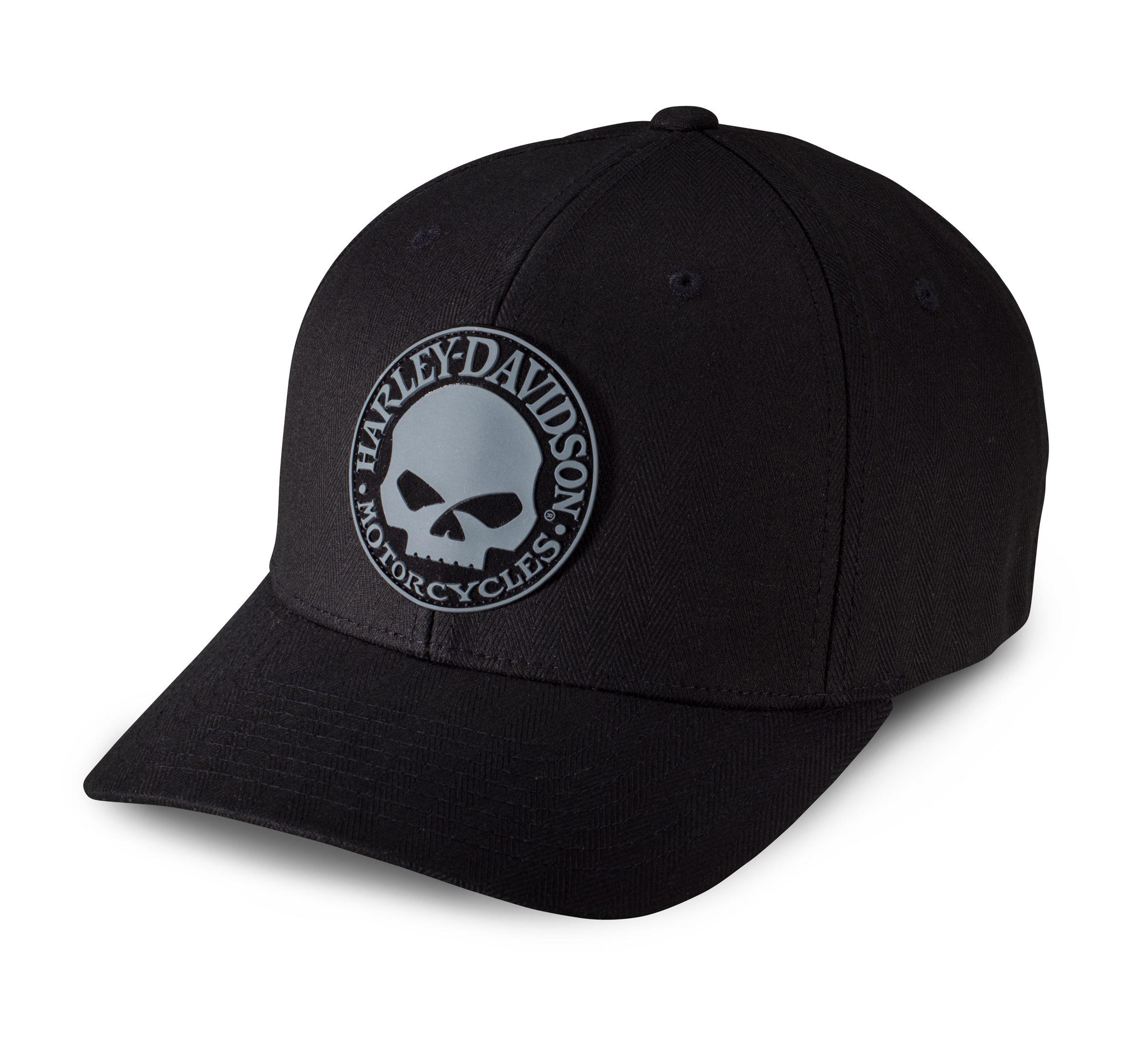 99409-16VM gorra rubber skull patch stretch